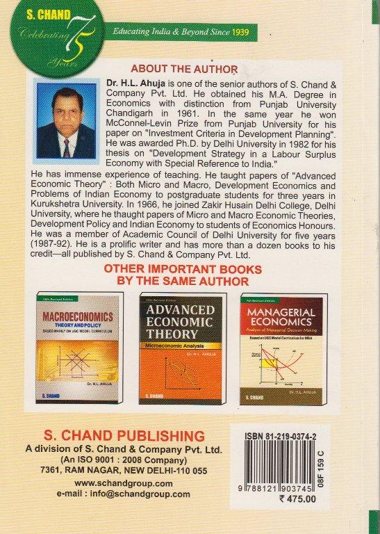 Advanced Economic Theory Hl Ahuja Pdf