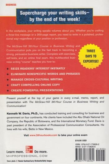 The McGraw-Hill 36-Hour Course in Business Writing and Communication,  Second Edition (McGraw-Hill 36-Hour Courses) | Books, Stationery,  Computers,