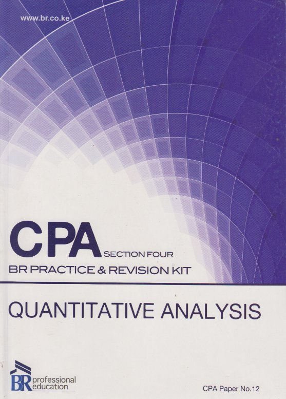 practice and revision kit This contains past exam questions as well as extra questions for practice   the  revision kit is for revising the course contents which you have studied in classes.