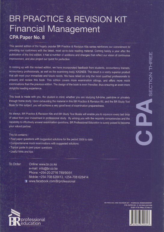 CPA section three BR practice & revision kit Financial management CPA paper  No 8 | Books, Stationery, Computers, Laptops and more  Buy online and get