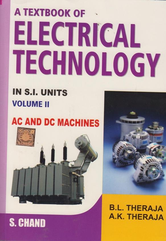Textbook Of Electric Technology Volume 2 Text Book Centre