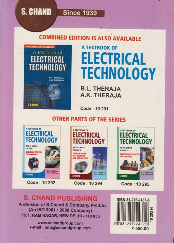 Textbook of Electric Technology Volume 2 | Books, Stationery, Computers,  Laptops and more  Buy online and get free delivery on orders above Ksh