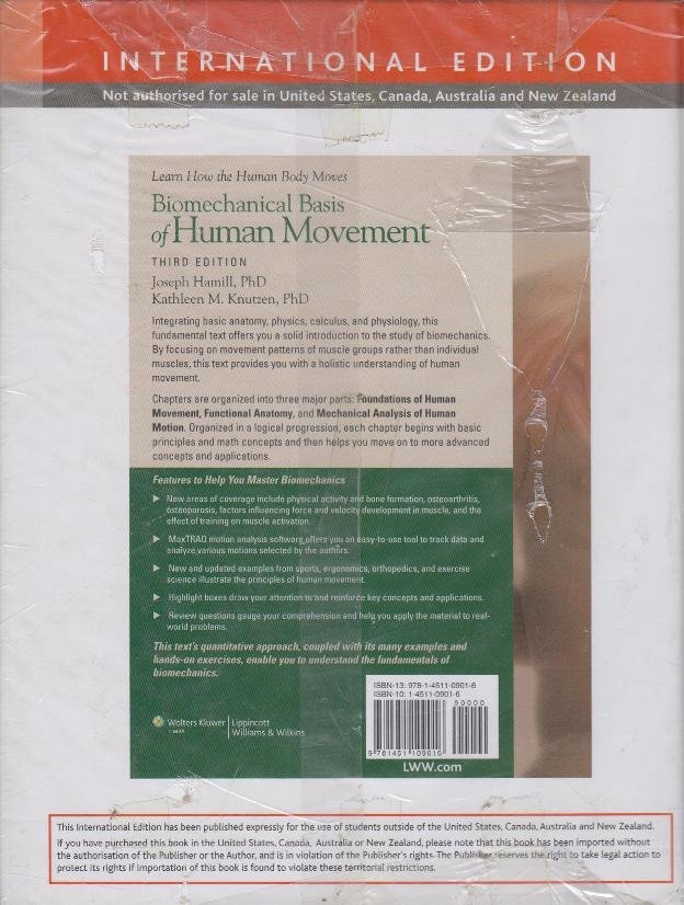 Biomechanical Basis Of Human Movement 3rd Edition Text Book Centre
