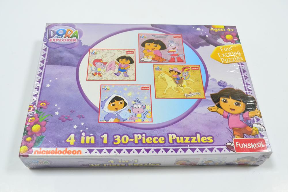 Dora The Explorer 4 In 1 Puzzle 9504300