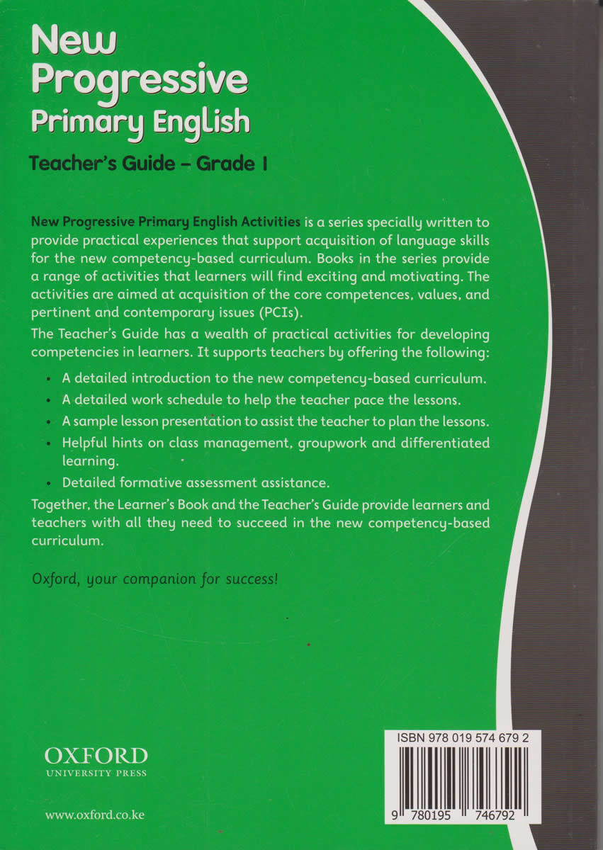 ... Oxford New Progressive English Teachers Guide Grade 1