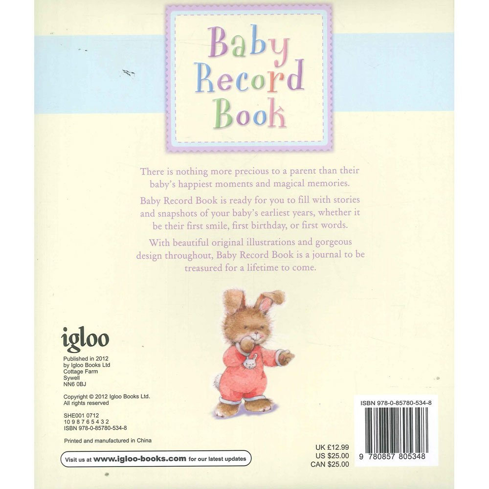 Baby Record Book (Igloo) | Text Book Centre