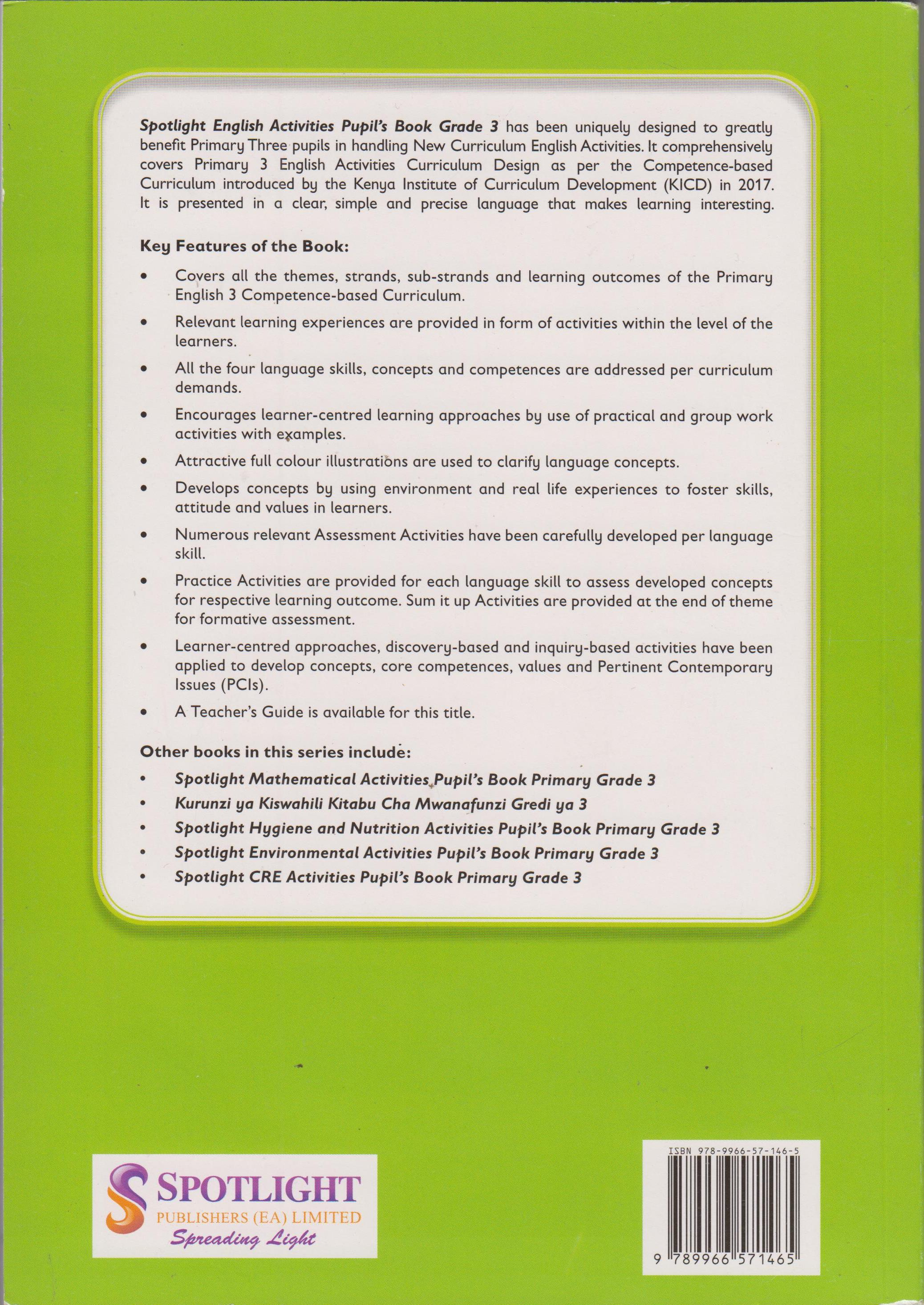 Spotlight English Activities Grade 3 | Books, Stationery, Computers,  Laptops and more  Buy online and get free delivery on orders above Ksh   2,000