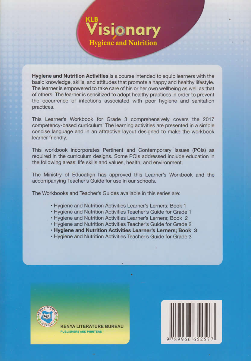 KLB Visionary Hygiene and Nutrition Grade 3 | Text Book Centre