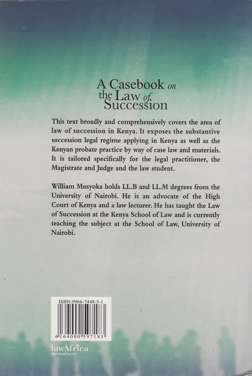 A Casebook on the Law of Succession | Books, Stationery, Computers, Laptops  and more  Buy online and get free delivery on orders above Ksh  2,000