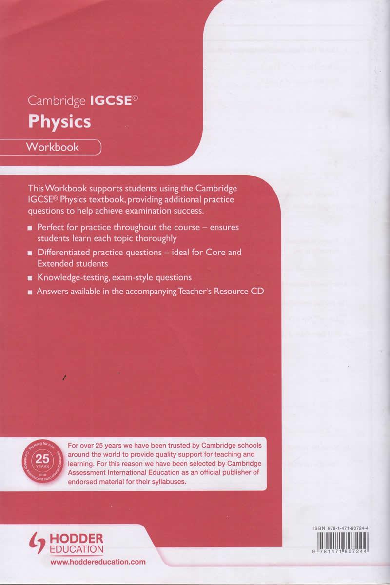Cambridge IGCSE Physics Workbook | Text Book Centre
