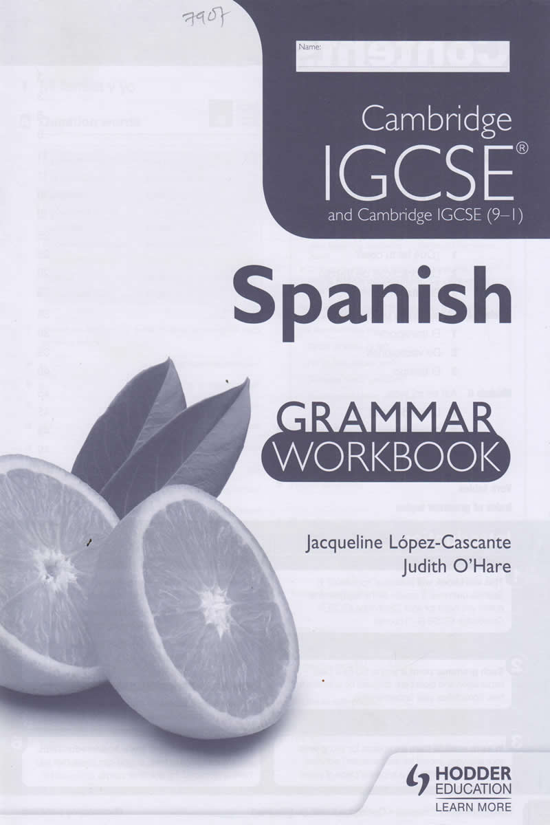 Cambridge IGCSE and Cambridge IGCSE (9-1) Spanish Grammar Workbook | Books,  Stationery, Computers, Laptops and more  Buy online and get free delivery