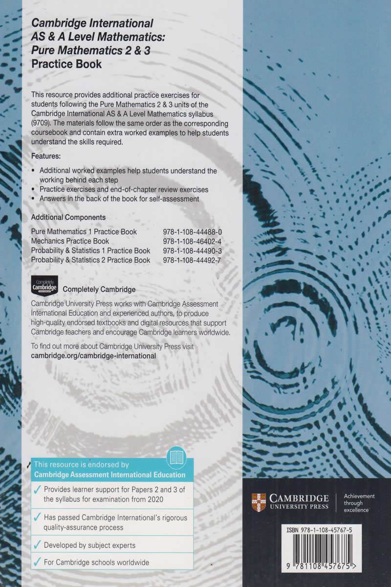 Cambridge International AS & A Level Mathematics Pure Mathematics 2 & 3  Practice Book | Books, Stationery, Computers, Laptops and more  Buy online  and