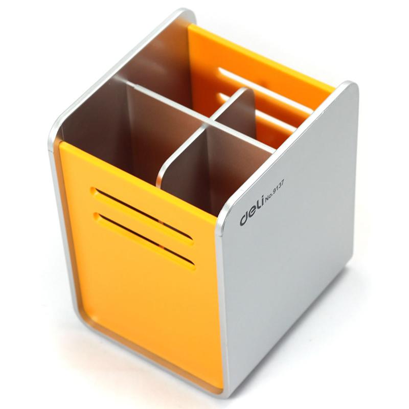Deli Pen Stand Black Yellow Ref 9137