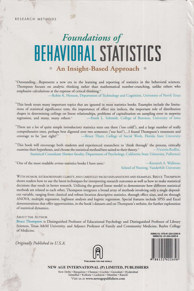 Foundations of Behavioral Statistics | Books, Stationery, Computers,  Laptops and more  Buy online and get free delivery on orders above Ksh   2,000