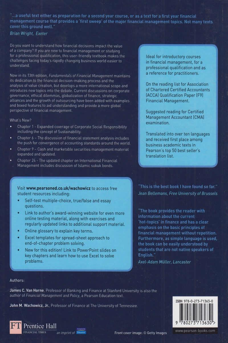 Fundamentals Of Financial Management Book