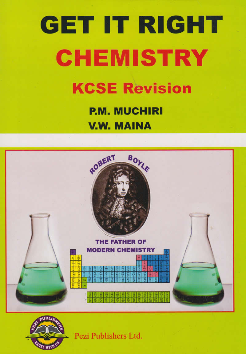 Get it Right Chemistry KCSE Revision | Books, Stationery, Computers,  Laptops and more  Buy online and get free delivery on orders above Ksh   2,000