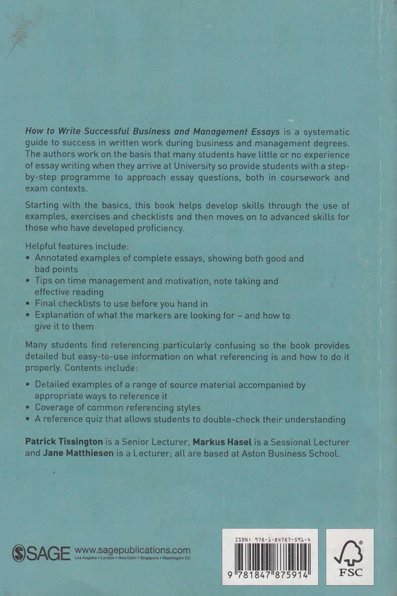 Business management essays