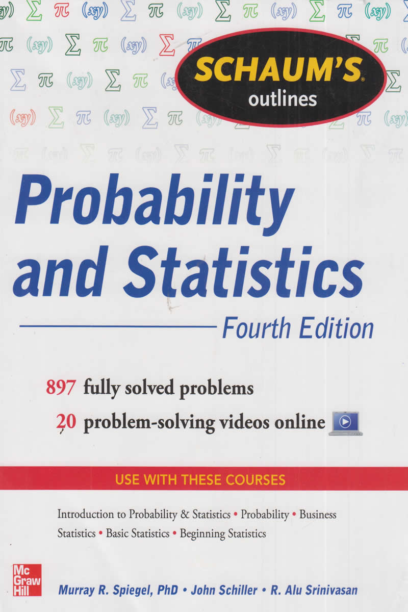 Schaum's Outlines Probability and Statistics 4th Edition | Books,  Stationery, Computers, Laptops and more  Buy online and get free delivery  on orders