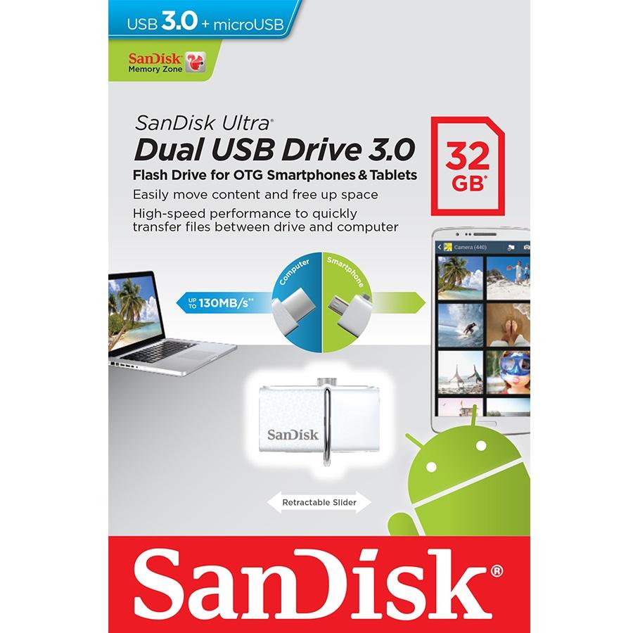 Harga Jual Sandisk Usb 30 Ultra Dual Drive Otg 64gb Flashdisk M30 32gb Flash Disk