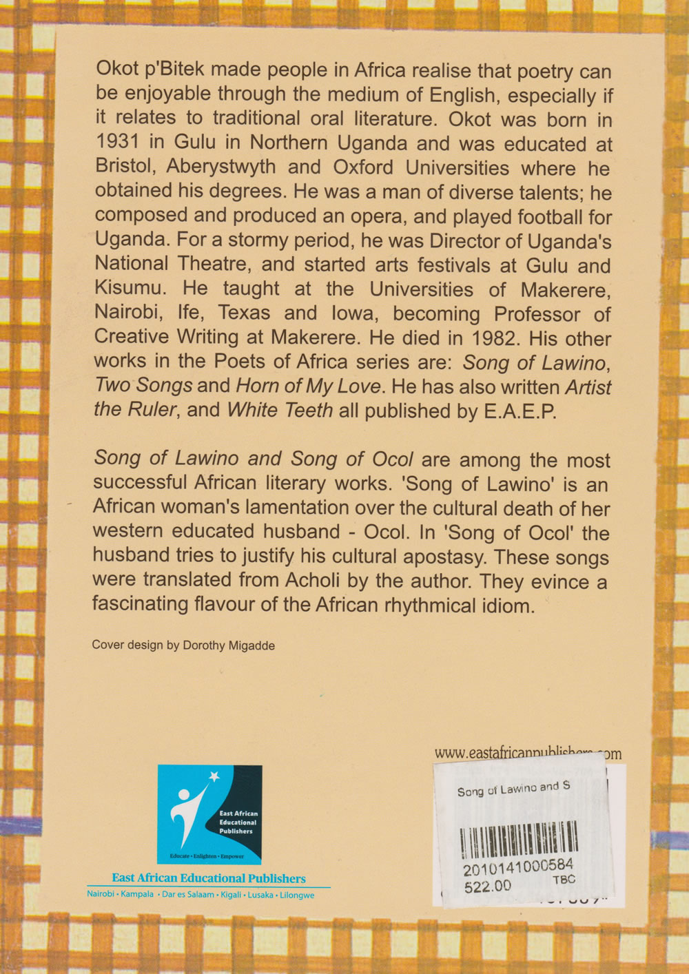 literature review of song of lawino