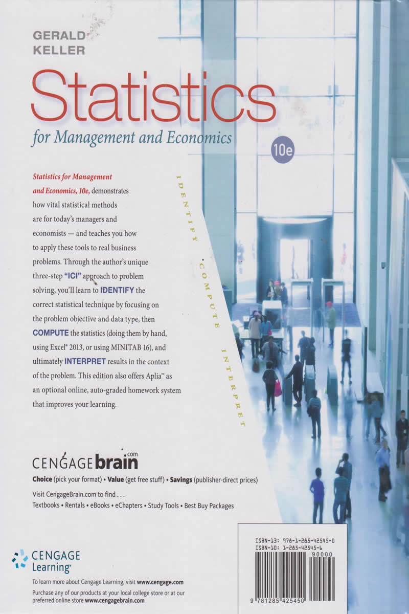 Statistics for Management and Economics | Books, Stationery, Computers,  Laptops and more  Buy online and get free delivery on orders above Ksh   2,000