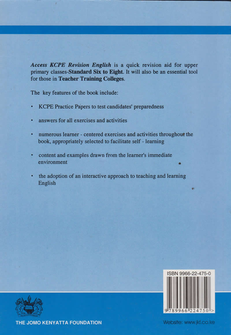Access KCPE Revision Series English with Answers | Books, Stationery,  Computers, Laptops and more  Buy online and get free delivery on orders  above