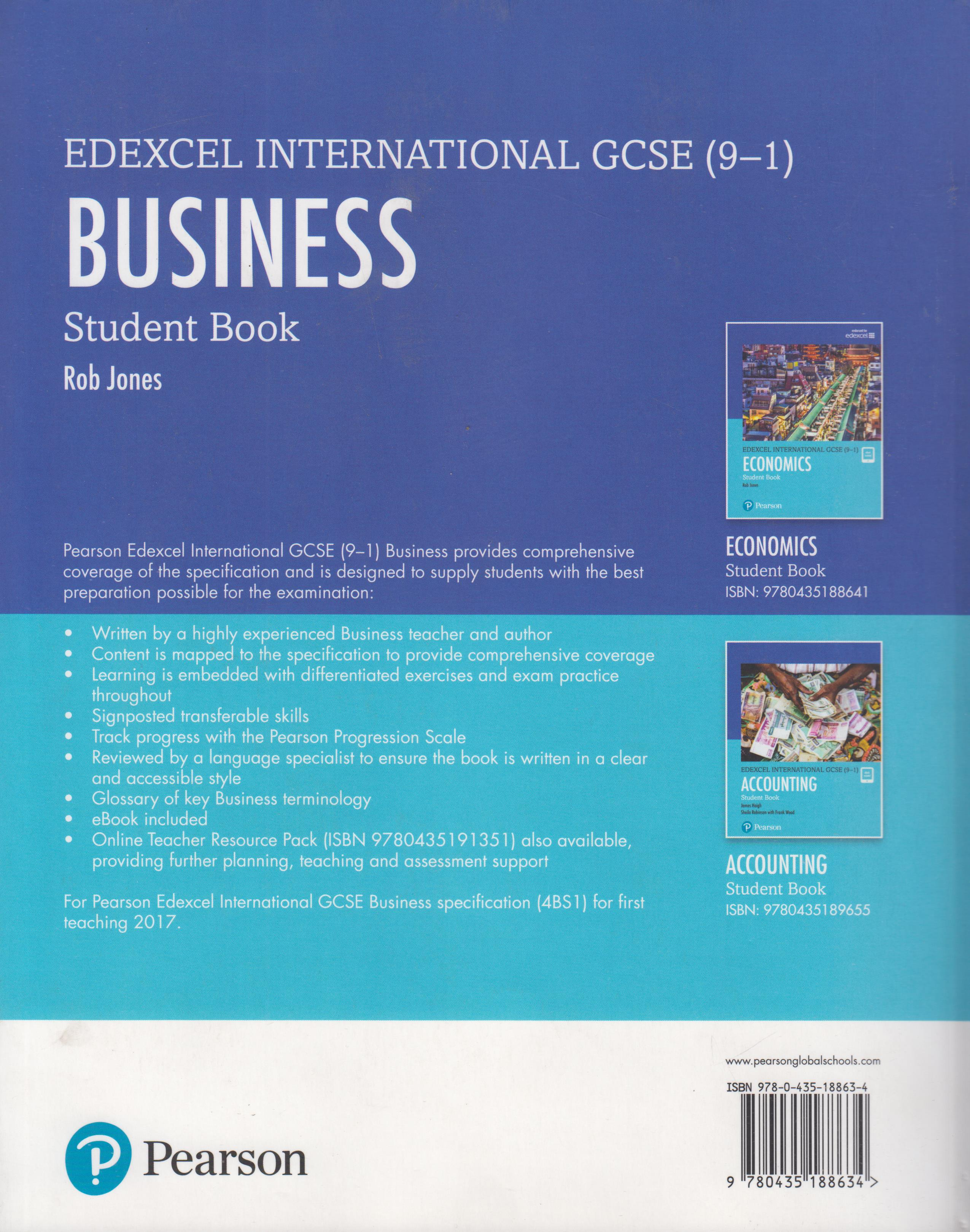 Edexcel International GCSE (9-1) Business Student Book | Books, Stationery,  Computers, Laptops and more  Buy online and get free delivery on orders