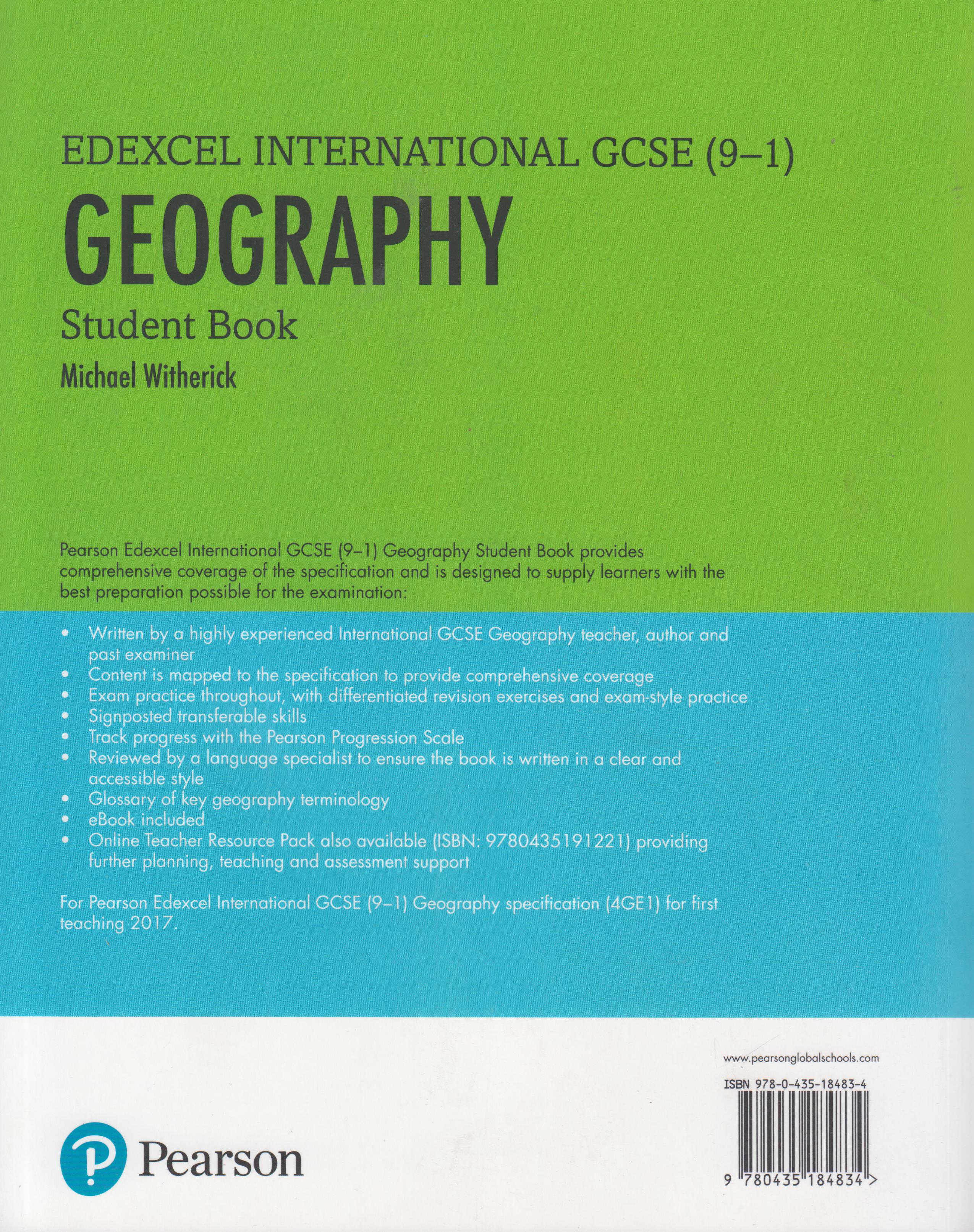 Edexcel International GCSE (9-1) Geography Student Book | Books,  Stationery, Computers, Laptops and more  Buy online and get free delivery  on orders