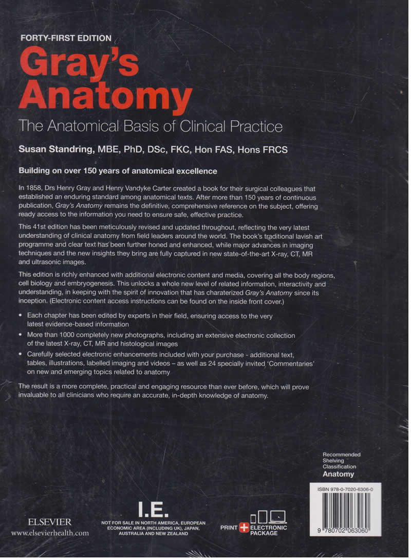 Gray\'s Anatomy: the Anatomical Basis of clinical practice 41st ...