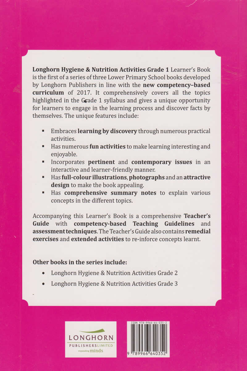 Longhorn Hygiene & Nutrition Activites Learner's Book Grade 1 | Books,  Stationery, Computers, Laptops and more  Buy online and get free delivery  on