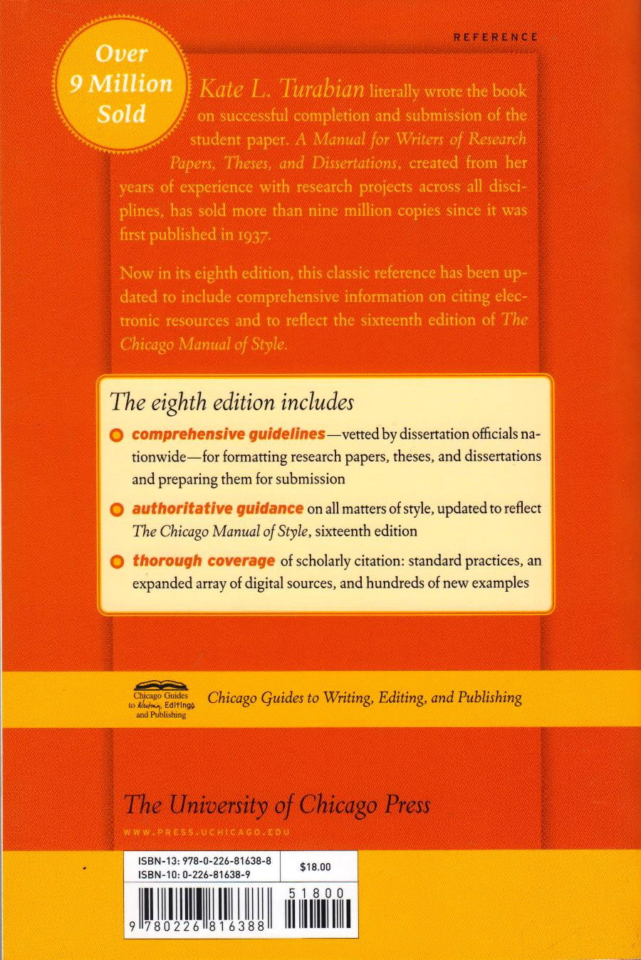 manual for writers of research 8th edition text book centre rh textbookcentre com Turabian Cover Page Template Turabian Citation