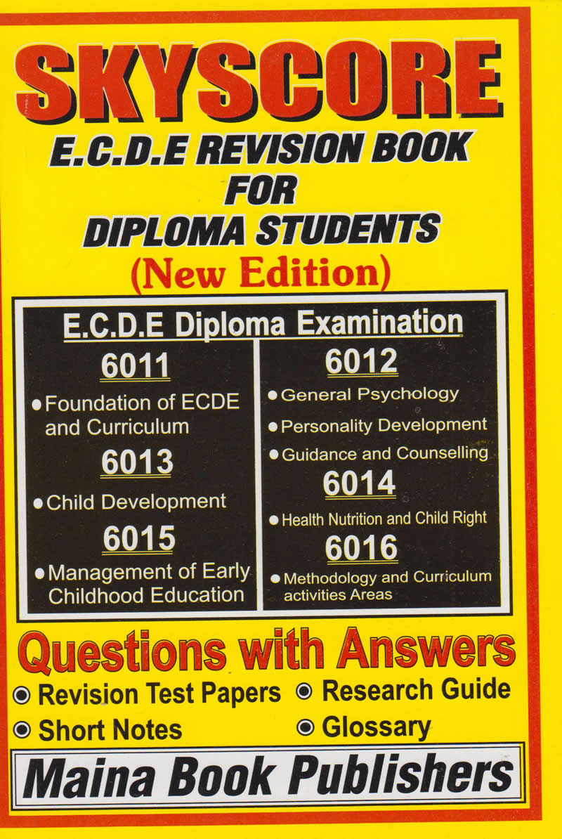 Skyscore Ecde Revision Book For Certificate Student Text Book Centre
