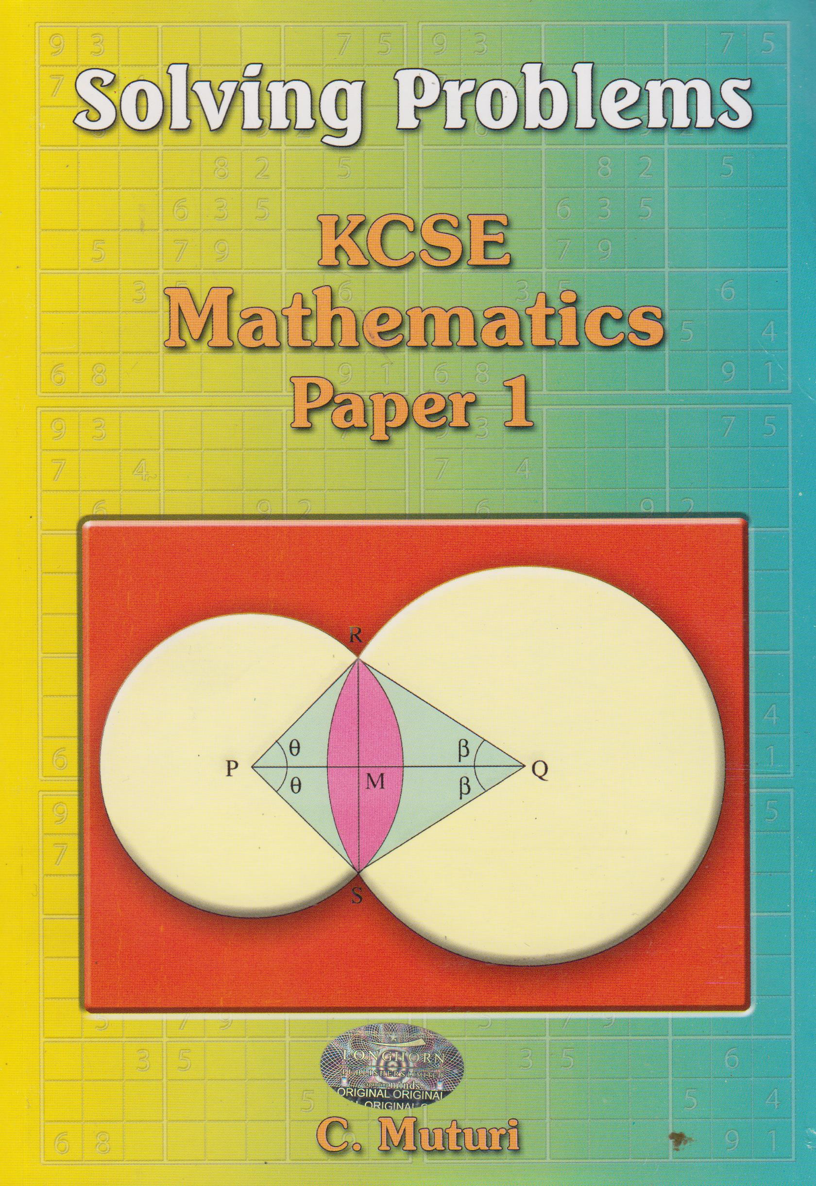 Solving Problems KCSE Mathematics Paper 1 | Books, Stationery, Computers,  Laptops and more  Buy online and get free delivery on orders above Ksh