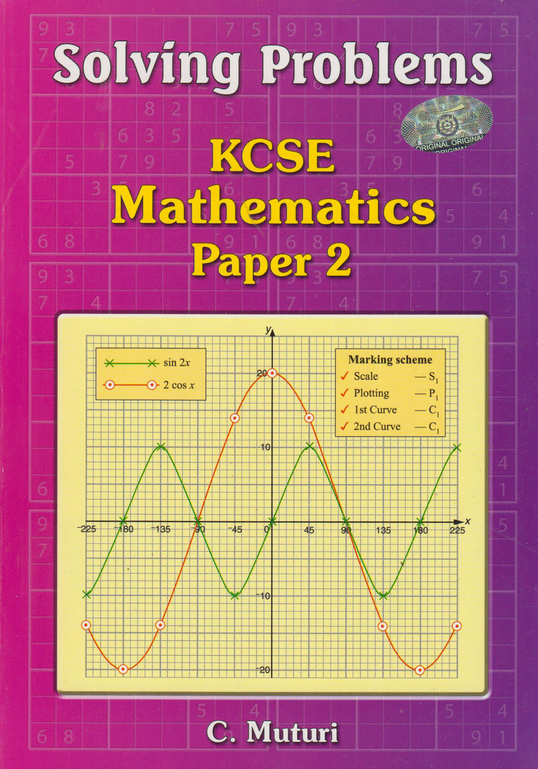Solving Problems KCSE Mathematics Paper 2 | Books, Stationery, Computers,  Laptops and more  Buy online and get free delivery on orders above Ksh