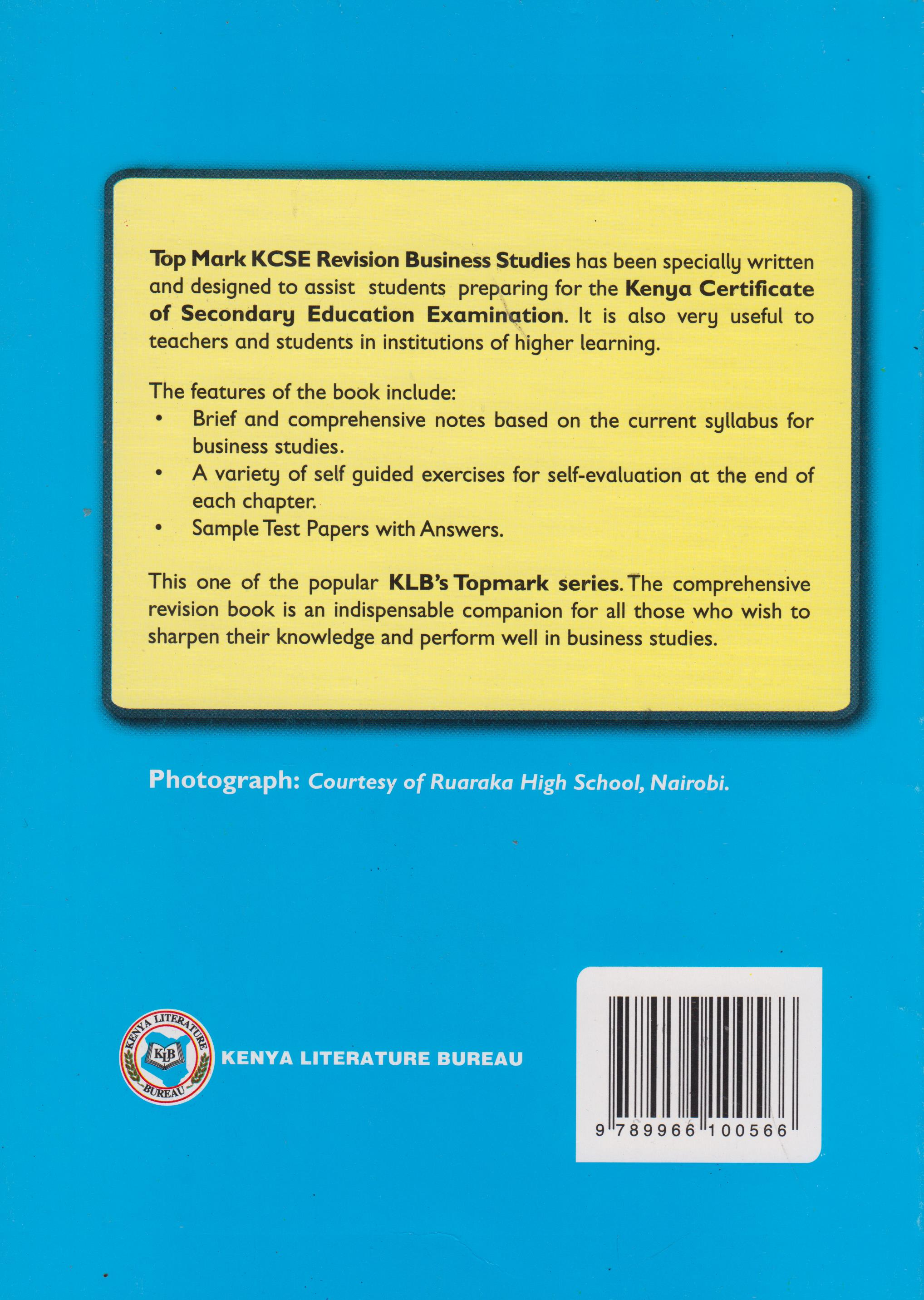 Topmark KCSE Revision Business Studies